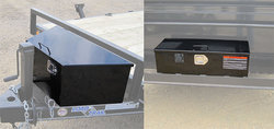 Front Tongue Mount Tool Box w/Gas Shock